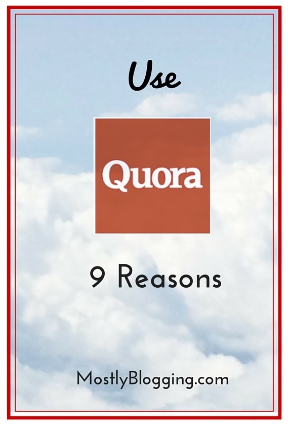 Bloggers should use Quora.